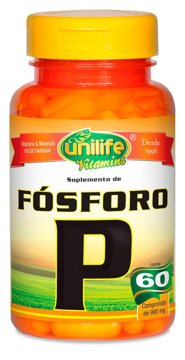 Fósforo P Unilife 60 cápsulas de (900mg) - Unilife