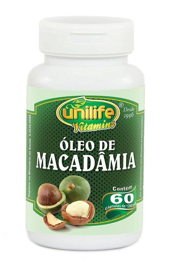 Óleo de Macadâmia 60 capsulas de (1200mg) - Unilife