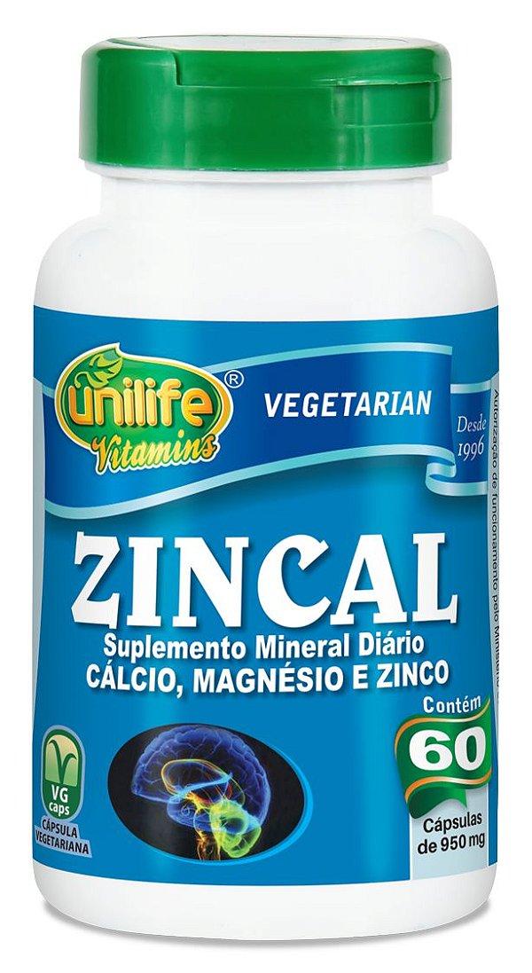 ZINCAL 60 Capsulas (950mg) - Unilife