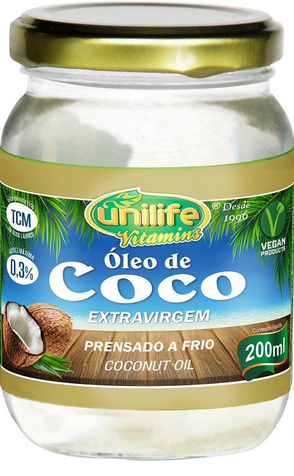 Óleo de Côco Extra Virgem (200ml) - Unilife