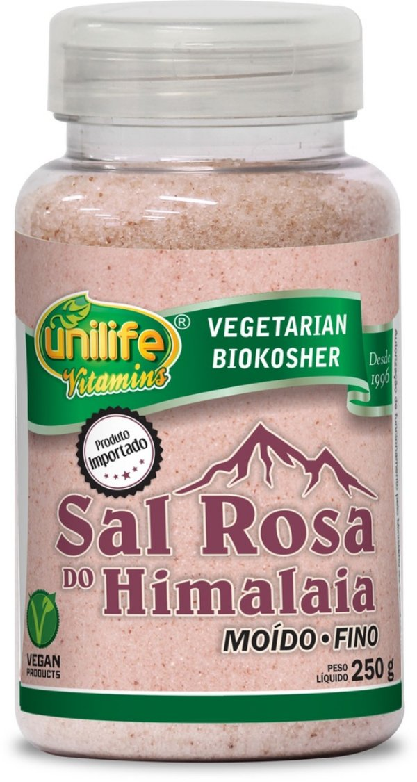 Sal Rosa do Himalaia Moído - Fino (250g) - Unilife