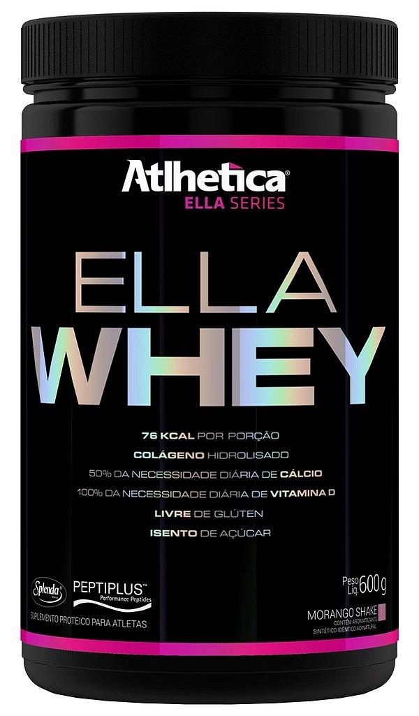 Ella Whey (600g) Sabor Morango - Atlhetica Ella Series
