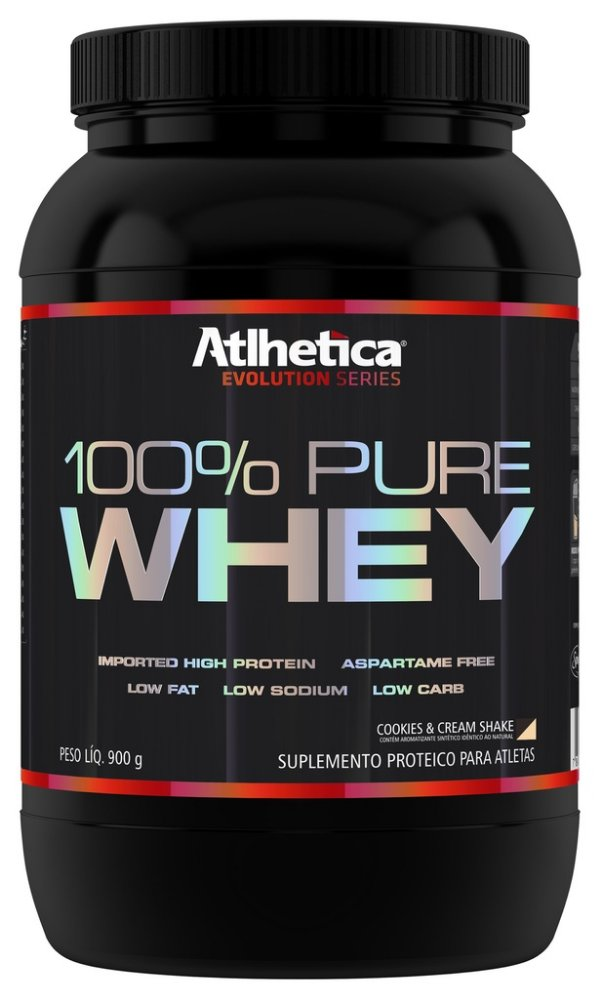 100% Pure Whey Protein 900g Cookies & Cream - Atlhetica