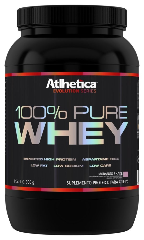 100% Pure Whey Protein (900g) - Morango - Atlhetica