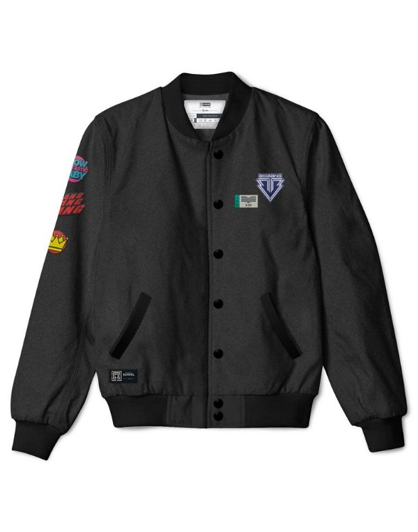 Bomber Jacket BIGBANG Gray + Kit de Patches