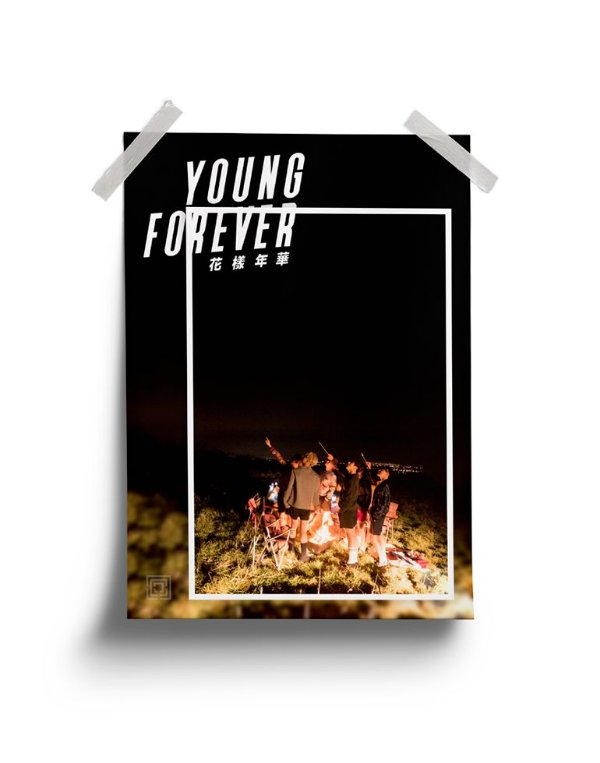 Poster BTS Young Forever Night