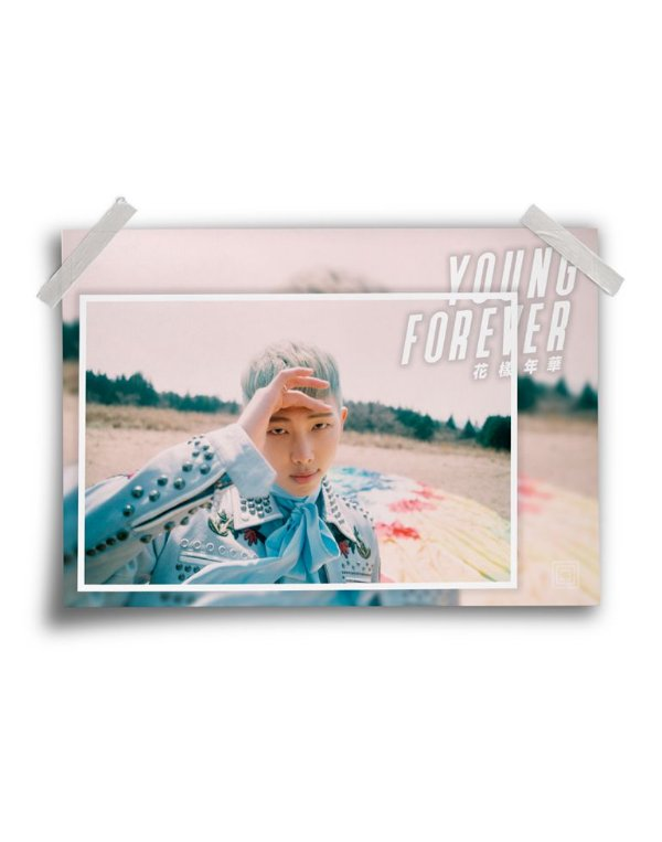 Poster BTS Young Forever Rap Monster