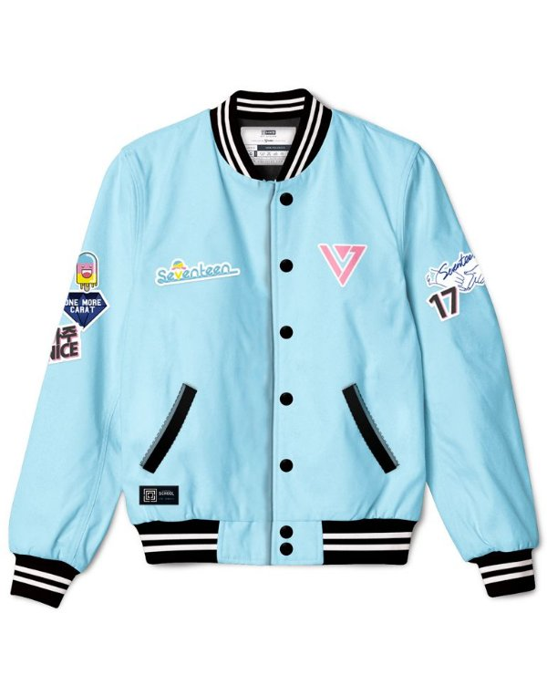 Bomber Jacket SEVENTEEN Very Nice + Kit de Patches