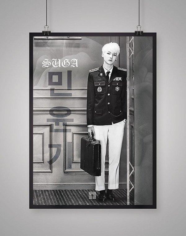 Poster Black Shade Suga BTS
