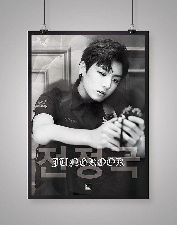 Poster Black Shade Jungkook BTS