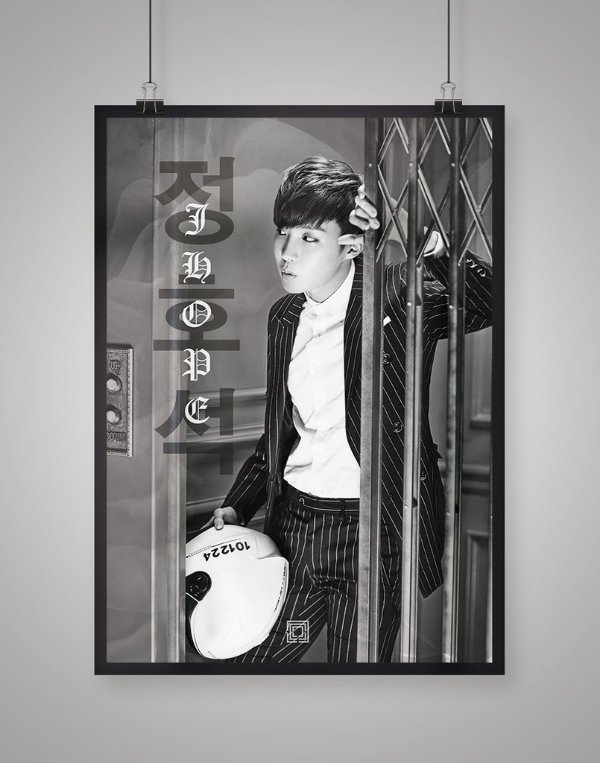 Poster Black Shade J-Hope BTS