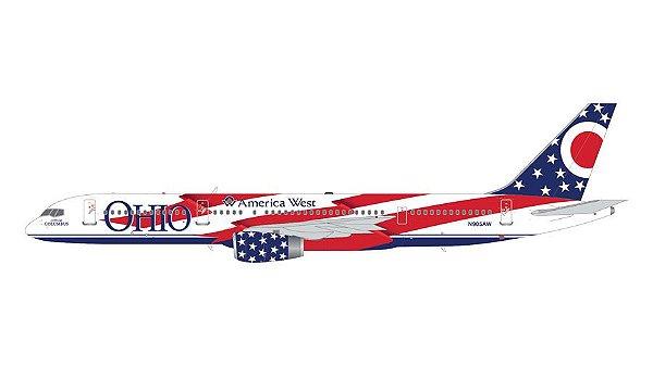 """PRÉ- VENDA Gemini Jets 1:200 America West Airlines Boeing 757-200 """"Ohio"""""""