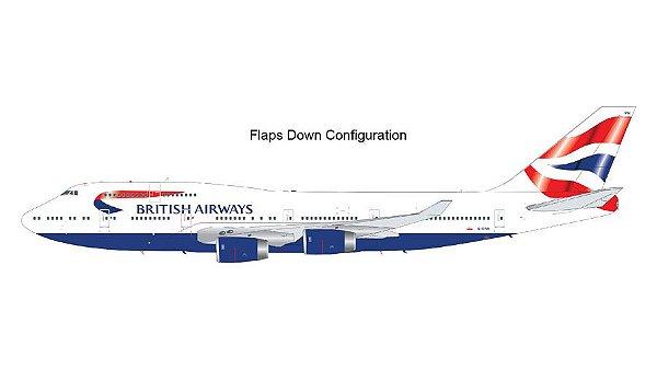 "PRÉ- VENDA Gemini Jets 1:200 British Airways Boeing 747-400 ""Flaps/Slats Extended"""