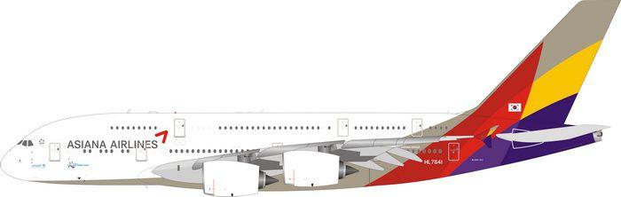 PRÉ- VENDA - Phoenix 1:400 Asiana Airbus A380