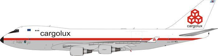 """PRÉ- VENDA - Phoenix 1:400 Cargolux Boeing 747-400F """"Retro"""""""