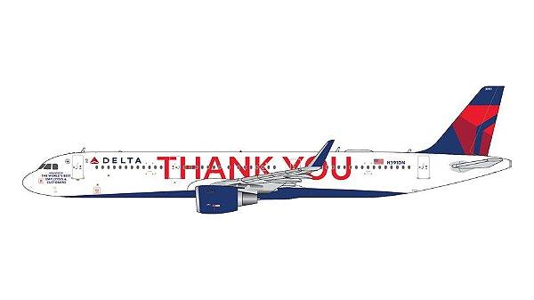 "PRÉ- VENDA Gemini Jets 1:400 Delta Airbus A321 ""Thank You"""