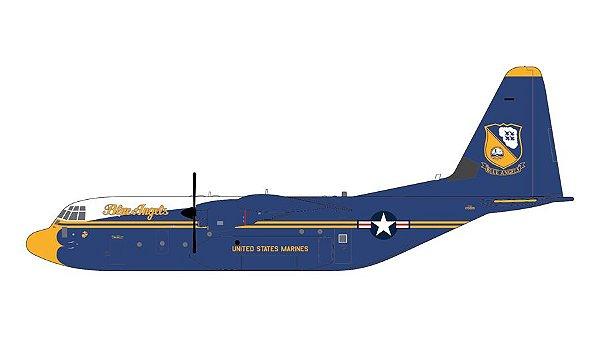 "PRÉ- VENDA GEMINI JETS 1:200 US Marines Lockheed C-130J Hercules ""Blue Angels"""