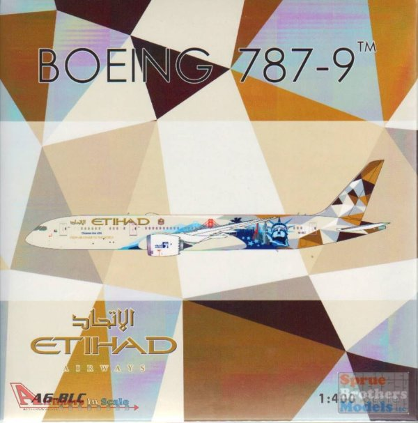 "Phoenix 1:400 Etihad Airways Boeing B 787-9 ""Choose the USA"""