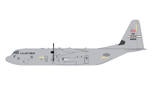 "PRÉ- VENDA Gemini Jets 1:200 United States Air Force Lockheed C-130J Hercules ""Little Rock"""