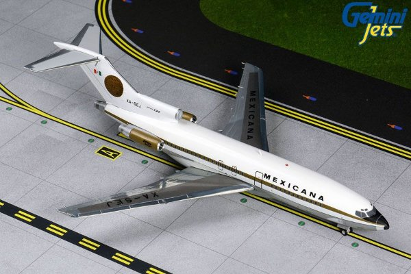 PRÉ- VENDA Gemini Jets 1:200 Mexicana Boeing B727-100