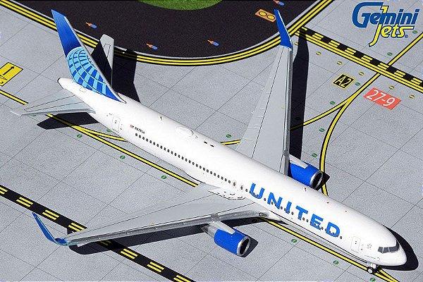 PRÉ- VENDA Gemini Jets 1:400 United Airlines Boeing B767-300ER