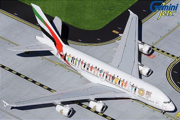 "PRÉ- VENDA Gemini Jets 1:400 Emirates Airbus A380 ""Year of Tolerance"""