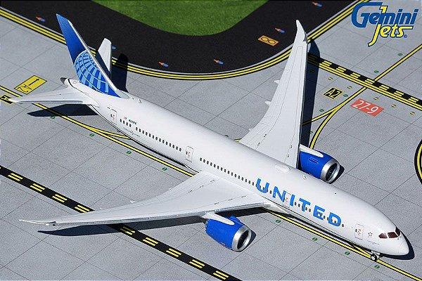 PRÉ- VENDA Gemini Jets 1:400 United Airlines Boeing B 787-9 Dreamliner