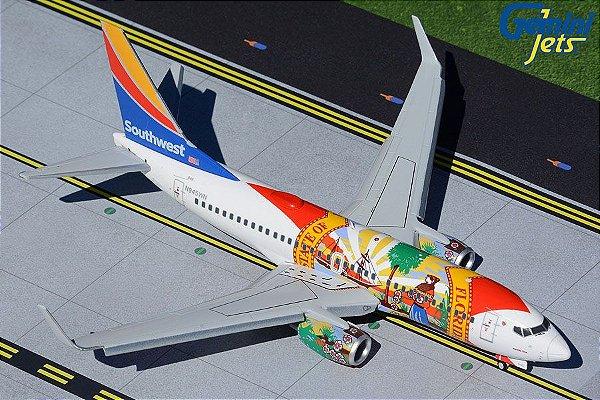 """PRÉ- VENDA Gemini Jets 1:200 Southwest Airlines Boeing 737-700 """"Florida One"""" Flaps/Slats Extended"""
