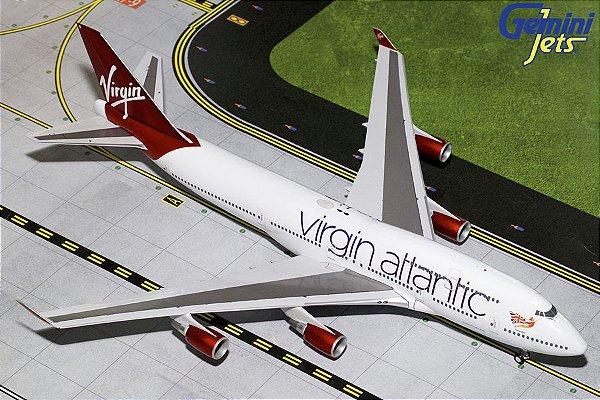 PRÉ- VENDA Gemini Jets 1:200 Virgin Atlantic Boeing 747-400ER