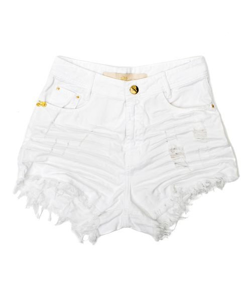 Shorts Branco Destroyed Alyn