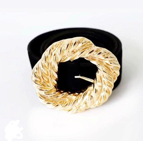 Cinto Fivela Dourada
