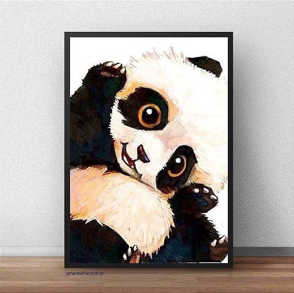 Placa Decorativa Panda