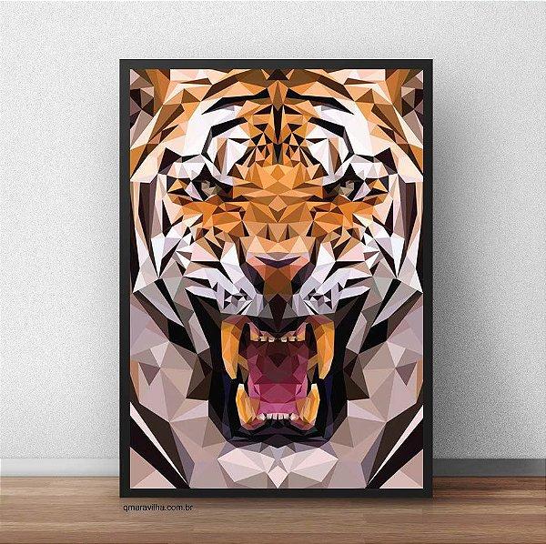 Placa Decorativa Tigre