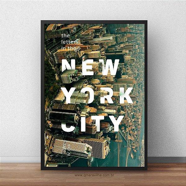 Placa Decorativa New York City