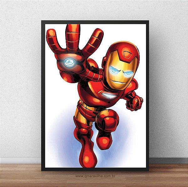 Placa Decorativa Homem de Ferro Kids
