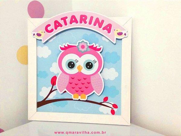 Porta de Maternidade - Coruja Catarina