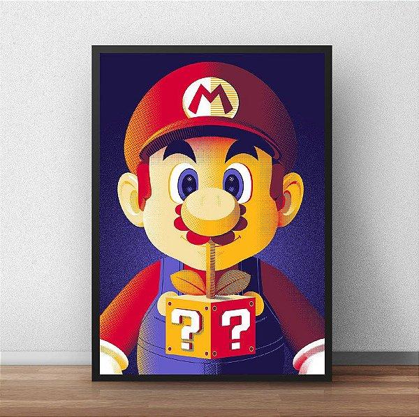 Placa Decorativa Mario Bros