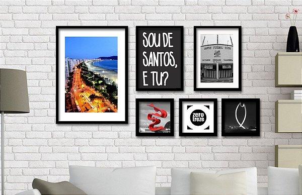 Composição Cidades Santos - 6 unidades