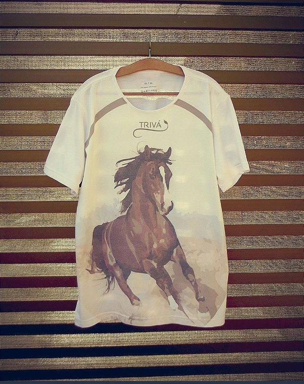Camiseta Masculina com Estampa de Cavalo