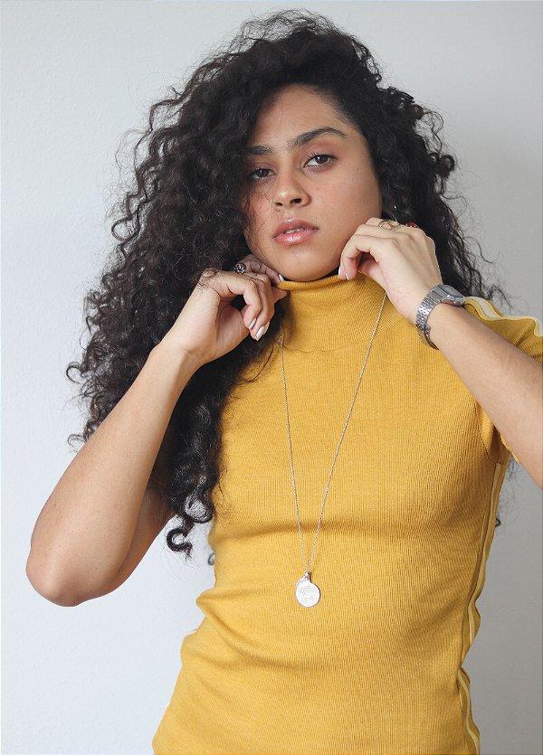 Camiseta Canelada Amarela