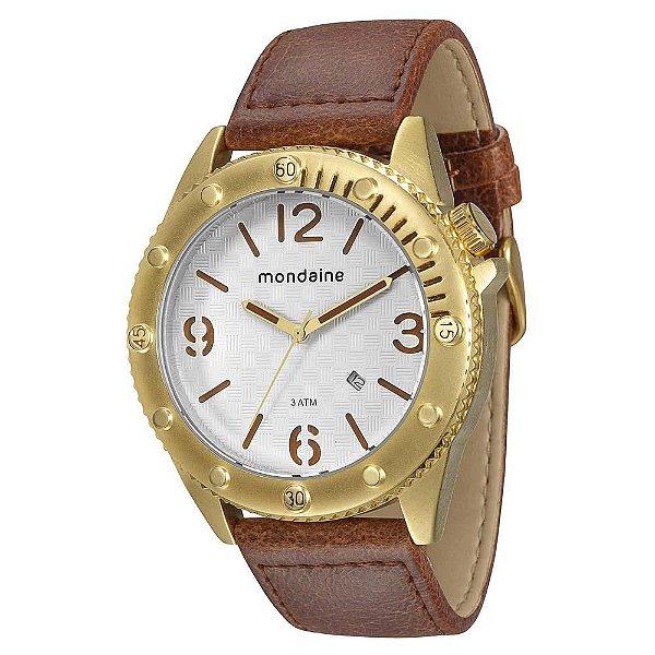 ea6b1e4aa78 Relógio Masculino Analógico Mondaine Couro 76411GPMGDH2 - Atlantis ...