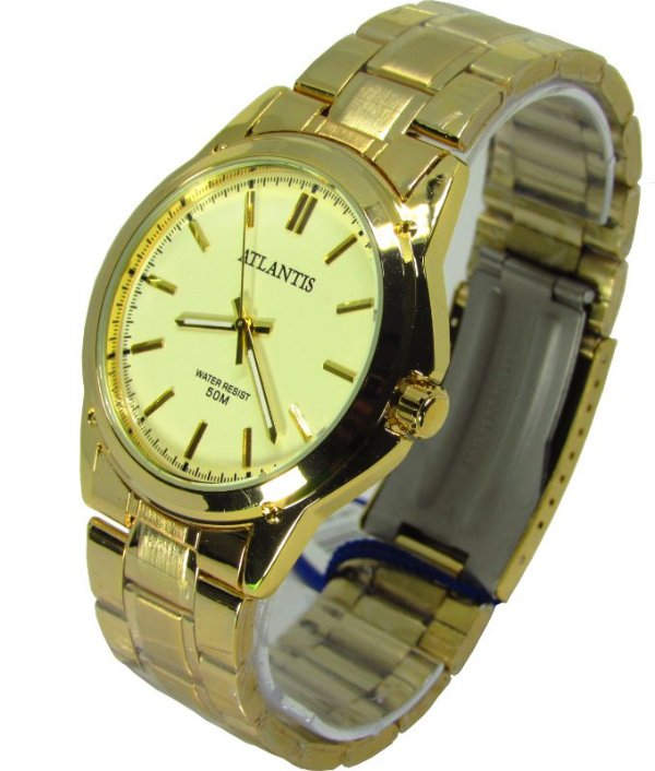 c8f0b023574 Relogio Atlantis Feminino G3337 Fundo Dourado - Atlantis Relógios