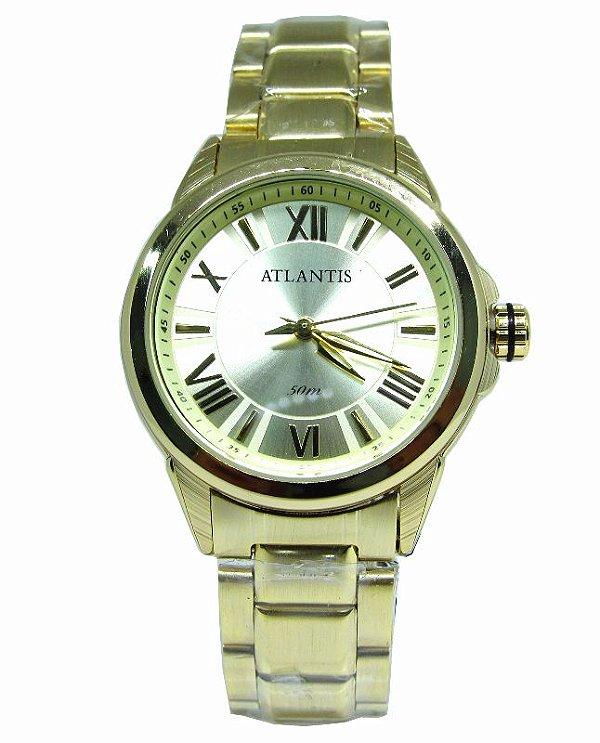 4bb558d9efd RELOGIO FEMININO ATLANTIS B3445 DOURADO - Atlantis Relógios