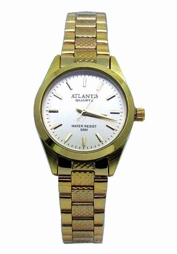 f15fc3afe99 RELOGIO FEMININO ATLANTIS W3054 DOURADO FUNDO DOURADO - Atlantis ...