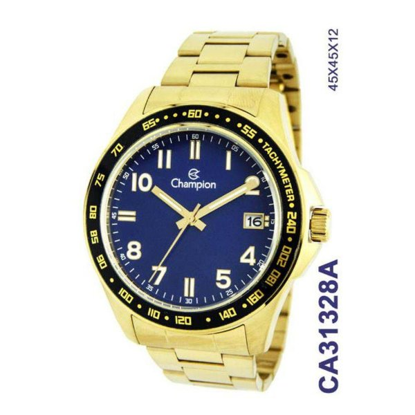 cb27b6f0f00 Relógio Champion Masculino Ca31328a DOURADO - Atlantis Relógios
