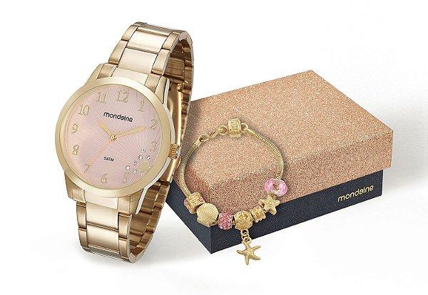 ad64f6bd4b8 RELOGIO FEMININO MONDAINE 53548LPMKDE2K1 + PULSEIRA - Atlantis Relógios