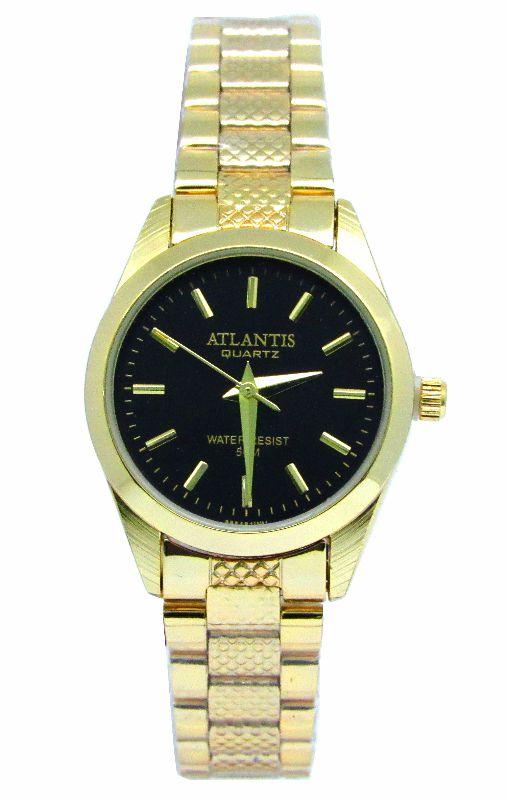 8eb1f07eb42 RELOGIO FEMININO ATLANTIS W3054 DOURADO FUNDO PRETO - Atlantis Relógios