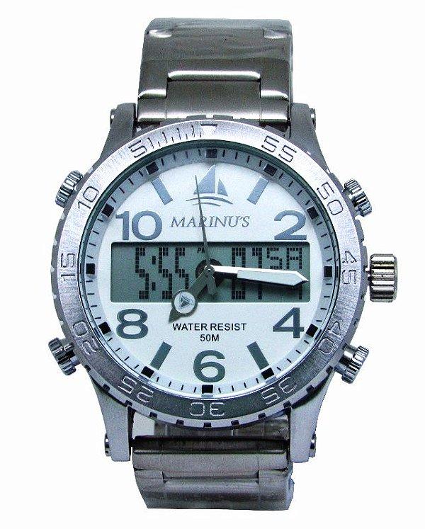 9670e43db53 Relogio Marinus Masculino A3347 Anadigi Prata - Atlantis Relógios