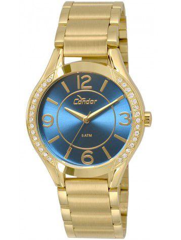 9c75f677fee Relógio Condor Feminino CO2035KRG 4A DOURADO - Atlantis Relógios