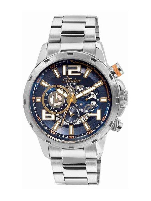 275019d5198 Relógio Condor Masculino COVD33BA 3A 100% Funcional Prata - Atlantis ...
